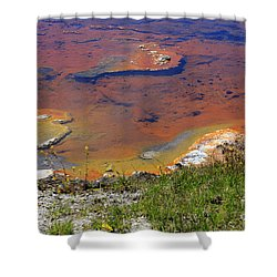 Firehole Lake Yellowstone National Park Shower Curtain by Louise Heusinkveld