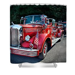 Fireman - 1949 And It Still Runs  Shower Curtain by Mike Savad