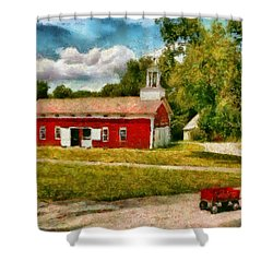 Fireman - I Want To Be A Firefighter Shower Curtain by Mike Savad