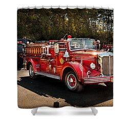 Fireman - The Procession  Shower Curtain by Mike Savad