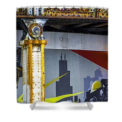 Fireman At Addison And Lincoln V4 Shower Curtain by Raymond Kunst
