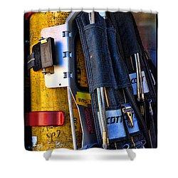 Fireman Gear Shower Curtain