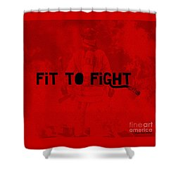 Fireman In Red Shower Curtain