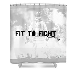 Fireman In White Shower Curtain