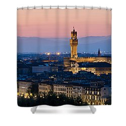 Firenze At Sunset Shower Curtain