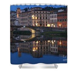 Firenze Blue I Shower Curtain by Kelly Borsheim