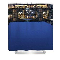 Firenze Blue IIi Shower Curtain by Kelly Borsheim