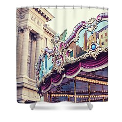 Shower Curtain featuring the photograph Firenze Carousel by Melanie Alexandra Price