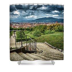 Firenze From The Boboli Gardens Shower Curtain