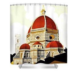 Firenze Travel Poster 1930 Shower Curtain