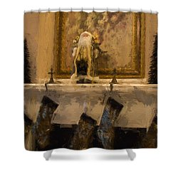 Fireplace At Christmas Shower Curtain