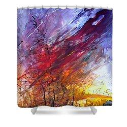 Firescape Shower Curtain