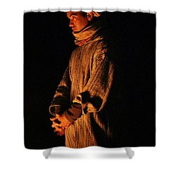 Shower Curtain featuring the photograph Fireside by Ramona Johnston