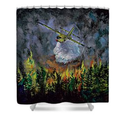 Firestorm Shower Curtain