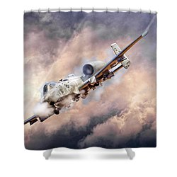 Firestorm Shower Curtain by Peter Chilelli