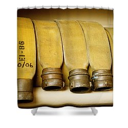 Firetruck Detail V Shower Curtain by Kicka Witte - Printscapes