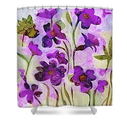 Fireweed Of The Forest Shower Curtain