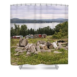 Firewood And Ice Houses Shower Curtain