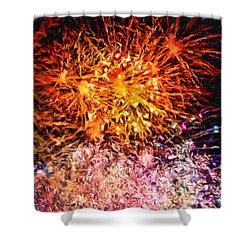Fireworks 11 Shower Curtain