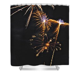 Fireworks 3 Shower Curtain by Michael Peychich