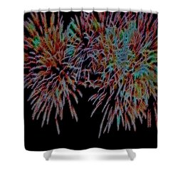 Fireworks Abstract Shower Curtain by Cathy Anderson