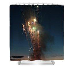 Fireworks After Sunset Shower Curtain