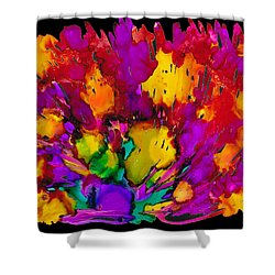 Fireworks Shower Curtain by Angela Treat Lyon