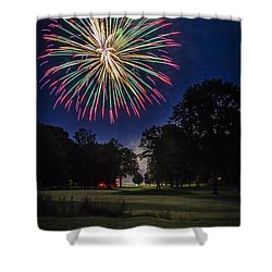 Fireworks Beauty Shower Curtain