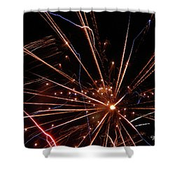 Shower Curtain featuring the photograph Fireworks Blast #0703 by Barbara Tristan