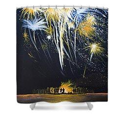 Fireworks Bonfire On The West Bar Shower Curtain