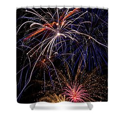 Fireworks Celebration  Shower Curtain by Garry Gay