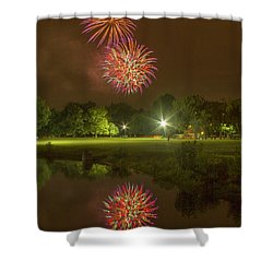 Fireworks During Fair St Louis Shower Curtain by Garry McMichael