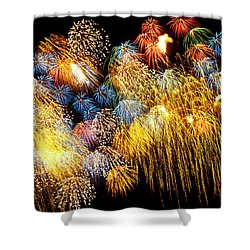 Fireworks Exploding  Shower Curtain by Garry Gay