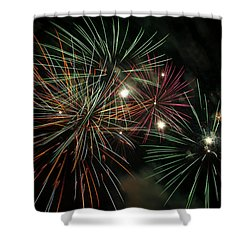Fireworks Shower Curtain by Glenn Gordon