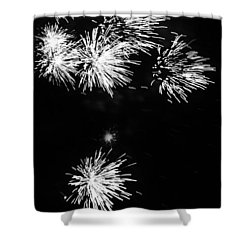 Shower Curtain featuring the photograph Fireworks In Black And White 3 by Kelly Hazel