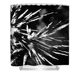 Shower Curtain featuring the photograph Fireworks In Black And White 4 by Kelly Hazel