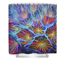 Shower Curtain featuring the photograph Fireworks In Nature by Clare VanderVeen