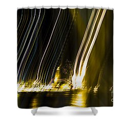 fireworks in Port of Malaga Shower Curtain by Perry Van Munster