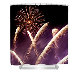 Fireworks In The Night Shower Curtain