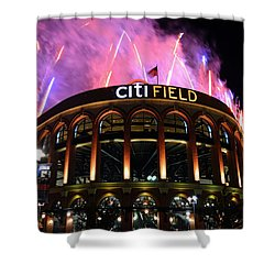 Fireworks Night At Citifield Shower Curtain