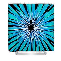 Fireworks No. 1 Shower Curtain by Sandy Taylor