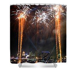 Fireworks Over Cincinnati Shower Curtain