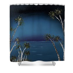 Fireworks Palms Shower Curtain