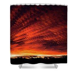 Fiery Sky 7 Shower Curtain