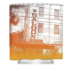 First Bar In Texas For A Woman Shower Curtain by Carolina Liechtenstein