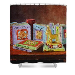 First Books Shower Curtain