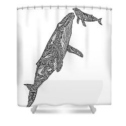 First Breath Shower Curtain by Carol Lynne