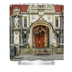 Shower Curtain featuring the photograph First Campus Center Princeton University by Susan Candelario
