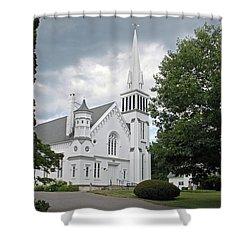 First Congregational Church Of Kent Shower Curtain
