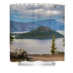 First Crater View Shower Curtain